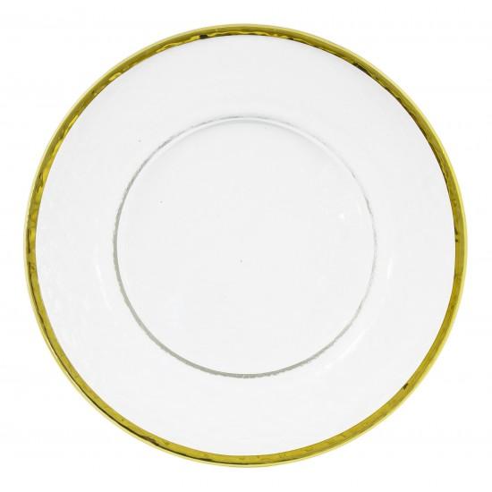 Klubový tanier so zlatým lemom